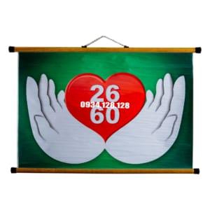 Tranh 26-60 – Thông điệp tình yêu thương (khổ A1)