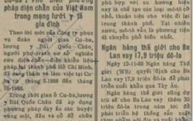 Báo Sài Gòn Giải Phóng năm 1988 đưa tin GS.TSKH Bùi Quốc Châu phổ biến Diện Chẩn tại Cu Ba